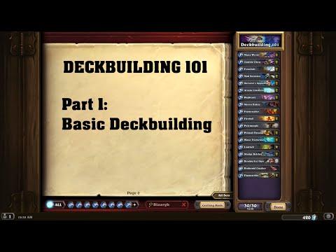 DECKBUILDING 101 Part #01: Basic Deckbuilding [German I Hearthstone]