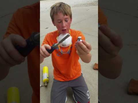 How to make fishing weights egg sinkers