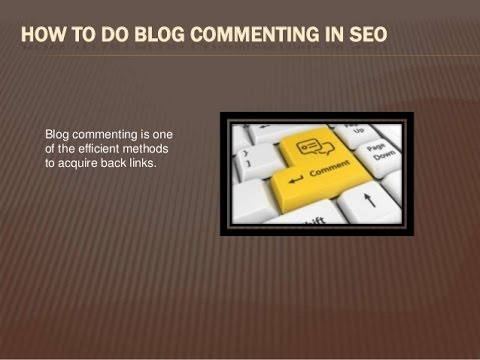 SEO Rank And Get Backlinks With Blog Comments For Boosting Page Rank