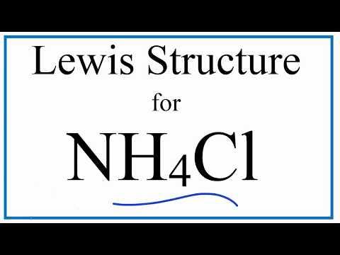 NH4Cl  Lewis Dot Structure (Ammonium Chloride)