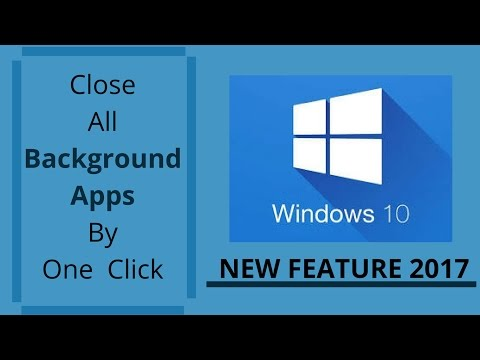 Close All Background Apps By One Click on Windows 10|New Feature|2017|