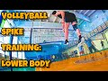 Volleyball Spike Training Lower Body