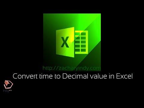 001 Convert time to Decimal value in excel (Konversi Waktu ke Desimal di Excel)