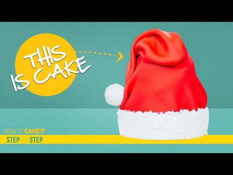 How To Make A SANTA HAT out of CAKE | Step By Step Tutorial | How To Cake It | Yolanda Gampp