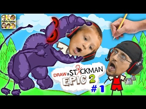 DRAW A STICKMAN EPIC 2 🚸 Giant Rat Chase (FGTEEV Imagination Chapter 1 Gameplay)
