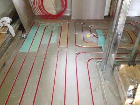 Underfloor heating - lightweight construction on Wooden Base, no concrete
