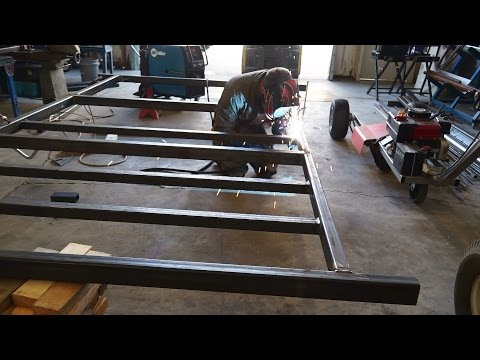 Camper Trailer Build #1, Welding The Frame