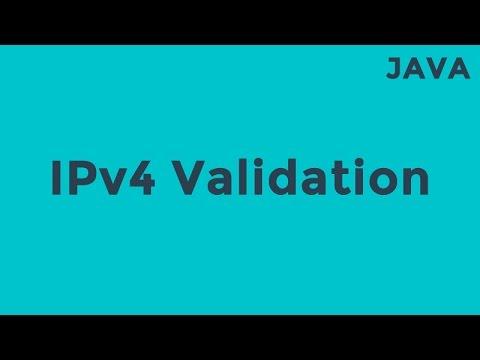 Java - IPv4 Validation