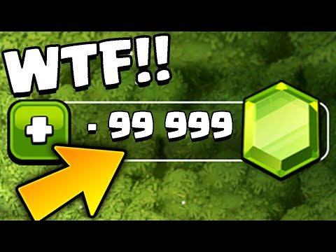 "Clash of Clans – ""NEGATIVE GEMS!"" NEW Gem Glitch/Bug! - Strange Gems in CoC!! How is THIS Possible?!"