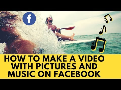 How to make a video with pictures and music on facebook || Rakesh Tech Solutions