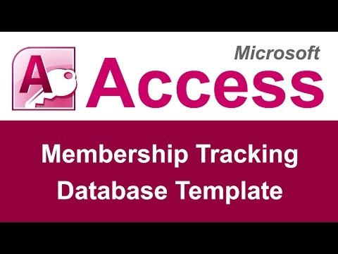 Microsoft Access Membership Tracking Database Template