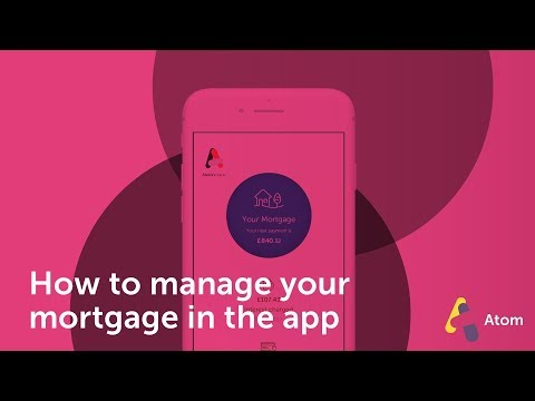 How do I manage my mortgage from the app?