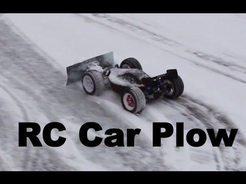 RC Car Plowing Snow!