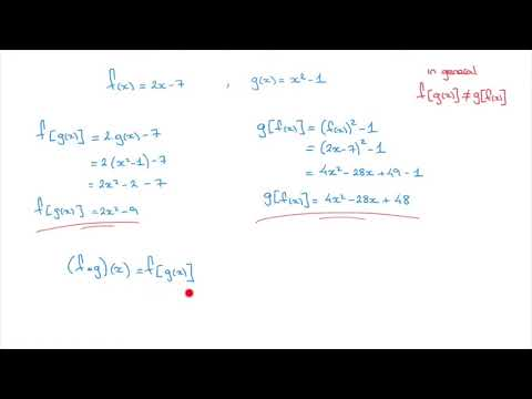 Composite Functions - How to Write and Find an Expression for a Composite Function