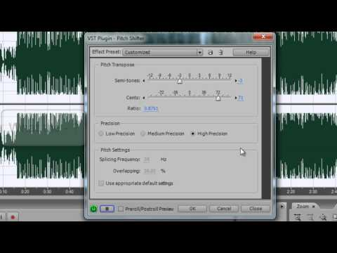 Adobe Audition - How to change voice pitch