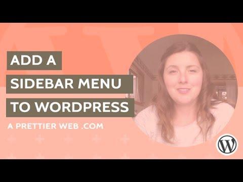 Add Sidebar Menu to WordPress