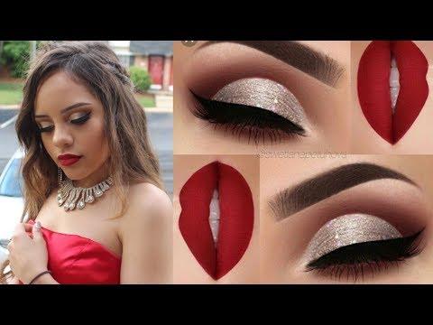 Maquillaje Para Graduación Fiesta Vestido Rojo
