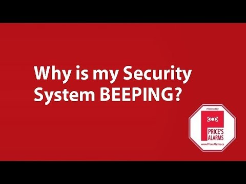 Why does my Security System keep BEEPING?