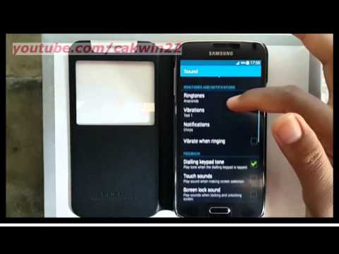 Samsung Galaxy S5 : How to enable touch sounds (Android Phone)