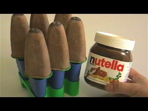 Real Nutella Milk Popsicles Recipe  DIY How to Make Zoku Pop Chocolate Ice Cream Recipe