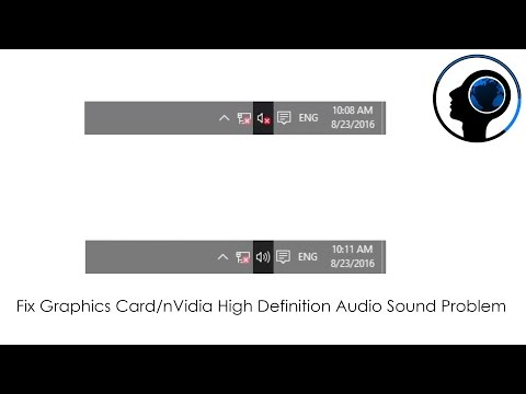 Fix Graphics Card/nVidia High Definition Audio Sound Problem