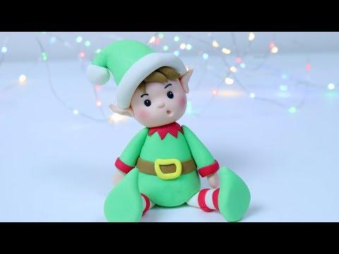 How to make Christmas Elf cake topper! Christmas cake decorating
