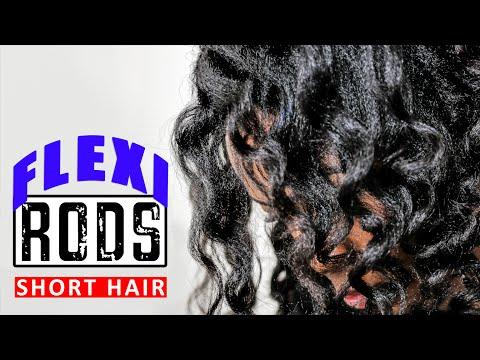 FLEXI RODS on Short Shoulder Length Transitioning Hair (Tutorial)