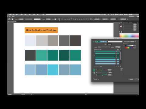 How to find pantone in illustrator cs6