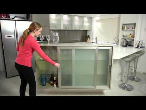 Aluminium Framed Cabinet Doors