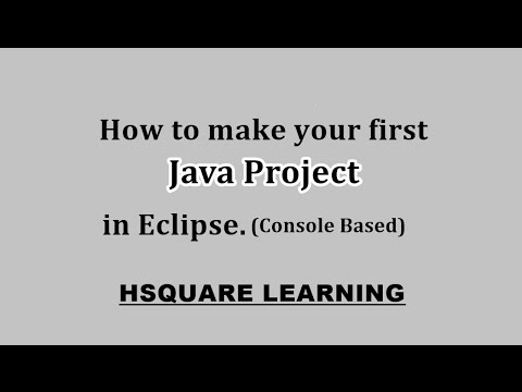(Java) Create Console based project in Eclipse for Java