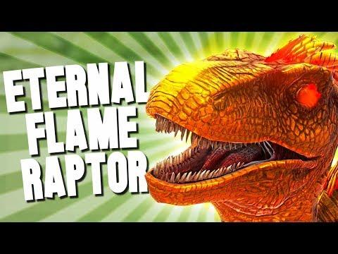 DOUBLE ETERNAL FLAME RAPTOR TAME! - Ark Survival Evolved (Modded)