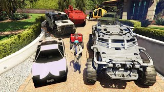 GTA 5 - Stealing EMERGENCY Vehicles with Michael! (Real Life Cars #94)