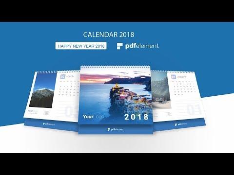 Editable Customizable Printable Calendar 2018 - Gift to Your Business Partner