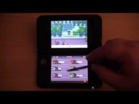 Pokemon Black version 2 on the Nintendo 3DS XL