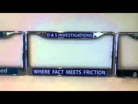 Custom personalized license plate frames at spectracolor simi valley ca 805-581-0722