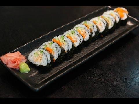 Shrimp tempura sushi roll recipe ..... طريقة عمل السوشي بالجمبري