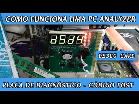 Como funciona uma PC Analyzer Placa de diagnóstico Debug Card POST