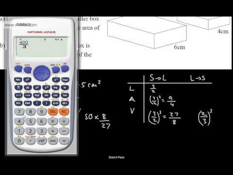 GCSE Maths - Scale Factor Enlargements of Soilds (Similar Shapes) Higher A Star OCR AQA