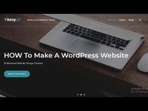 How To Create WordPress Website Step By Step With EasyJet WP Theme