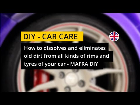 How to dissolves and eliminates old dirt from all kinds of rims and tyres