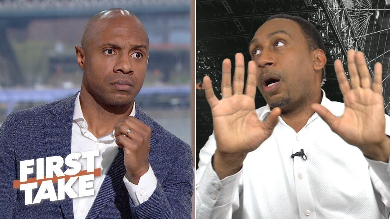 Stephen A., Jay Williams' hilarious reactions to Max's clutch Kawhi vs. Kobe stance    First Take