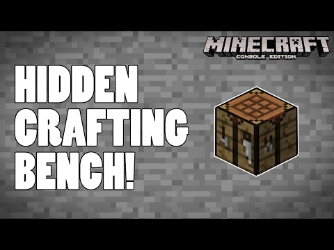 Hidden Crafting Table / Bench - Minecraft PS4 / XBOX One Console
