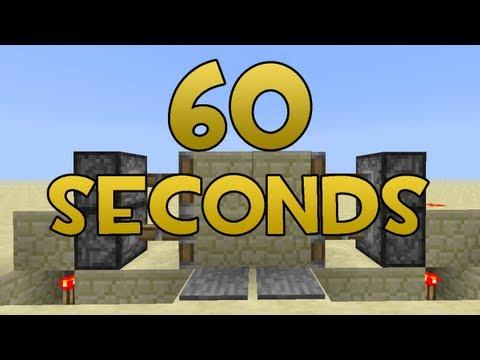 Minecraft: 2x2 Piston Doors in 60 Seconds (EASY)
