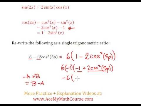 Double Angle Identities (Trigonometry) - Question #8
