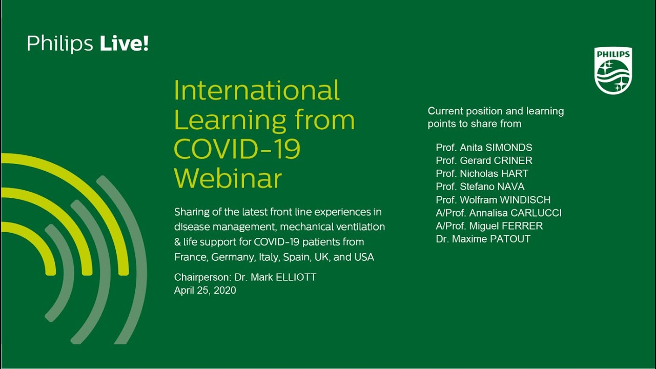 COVID-19 Webinar 3: International Learning from COVID-19 I Philips