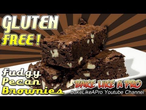 Amazing Gluten-Free Fudgy Pecan Brownies Recipe !