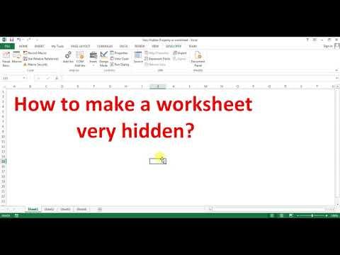 Make a worksheet very hidden