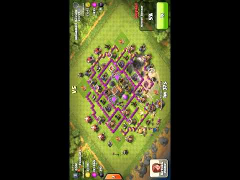 Clash of Clans SUPER RAID defended!!