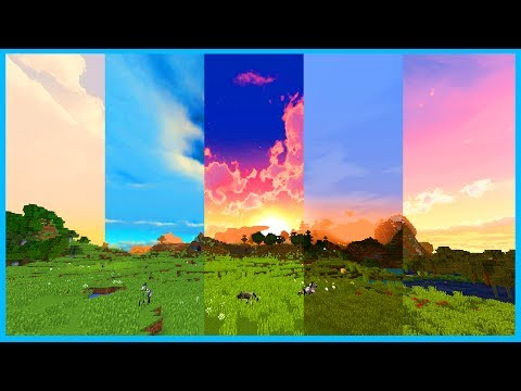 Minecraft 1.12 - TOP 5 CUSTOM SKY RESOURCE PACKS - Clouds and Space Texture Packs