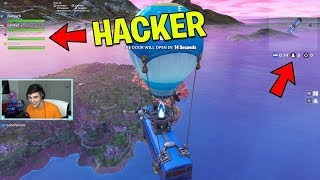 The Fortnite Hacker almost got us BANNED.. (Fortnite Battle Royale)